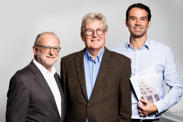 v.l.n.r.: Bruno Geiger, Dr. Hans-Jürgen Kickler, Marius Marschall von Bieberstein
